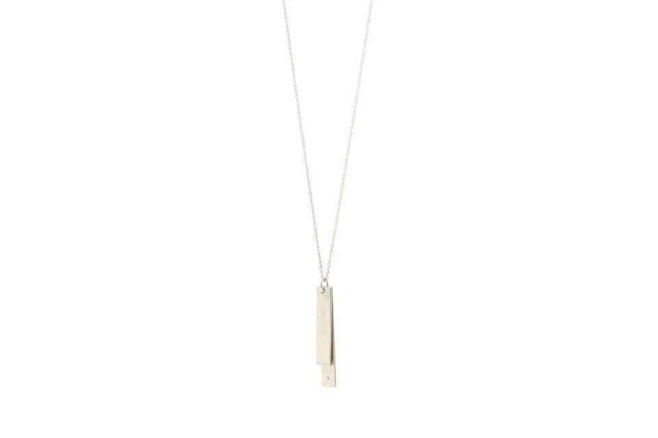 4af27bb14 Tiffany & Co. Silver Paloma Picasso Loving Heart Double Bar Necklace ...