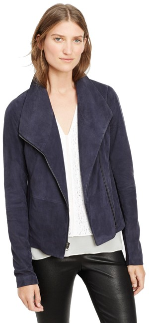 Item - Navy Blue Scuba L Women's Suede with Tags New Jacket Size 12 (L)