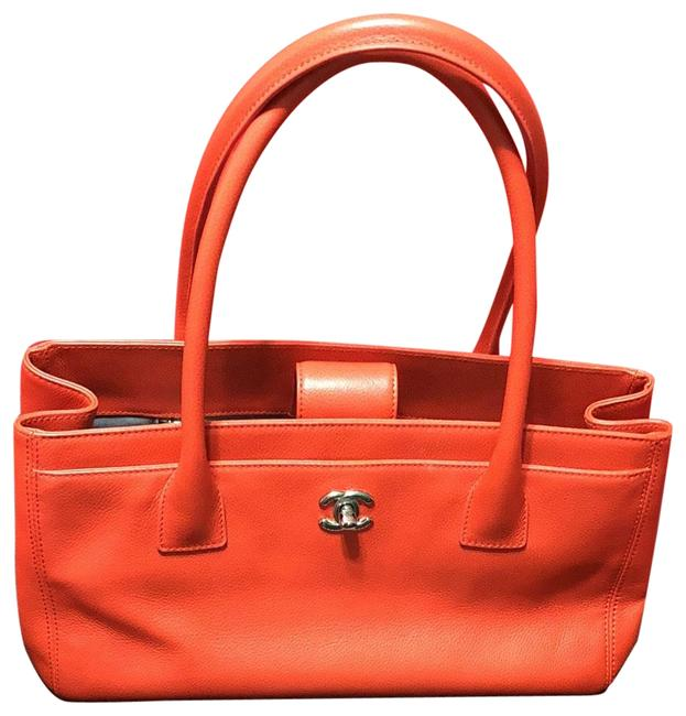 Item - Orange Lambskin Leather Hobo Bag