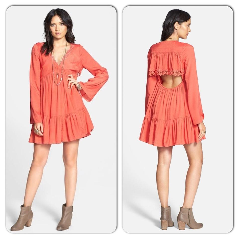 2619ad524307 Free People Blossom Pink Gentle Dreamer Short Casual Dress Size 8 (M ...