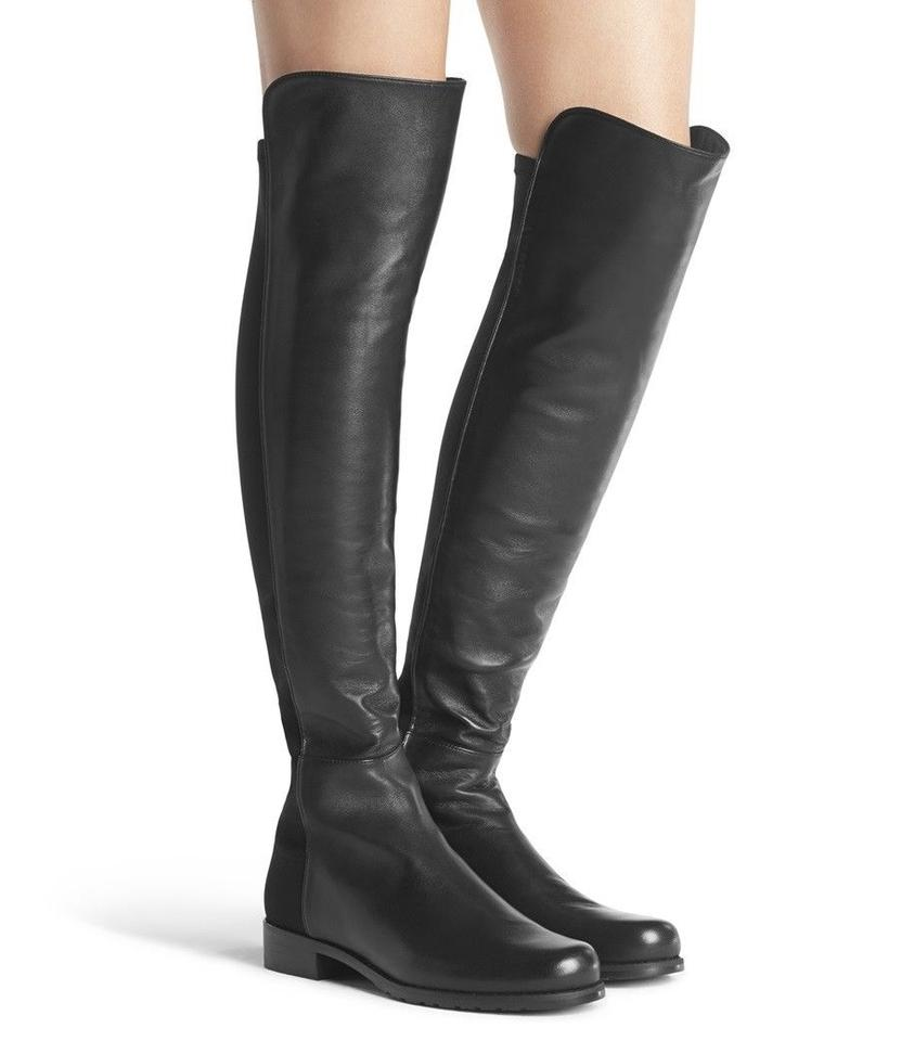 Stuart Weitzman Knee Black Iconic Over The Knee Weitzman High Leather 5050 Boots/Booties e0c0ec