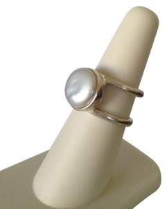 Lucky Brand Lucky Brand Silver-Tone White Coin Pearl Ring