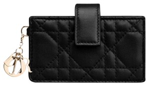 """Dior Dior """"Lady Dior"""" Gusseted Card Holder Lambskin"""