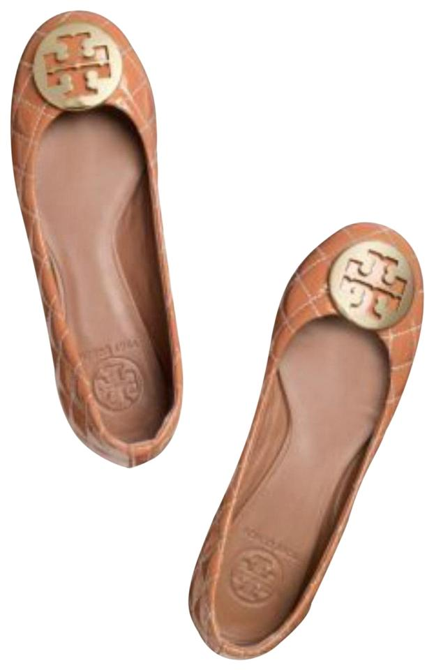 c362b6b4638 Tory Burch Chestnut Quinn Quilted Patent Leather Flats Size US 5 ...