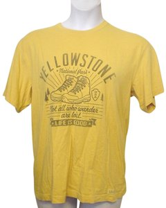 Life is Good Yellow Casual Style T Shirt