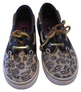 Sperry Toddler Boat Animal Print Flats