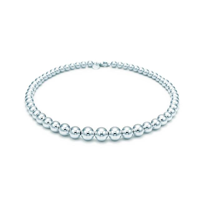 Tiffany & Co. Sterling Silver Hardware Graduated Ball Necklace Tiffany & Co. Sterling Silver Hardware Graduated Ball Necklace Image 1
