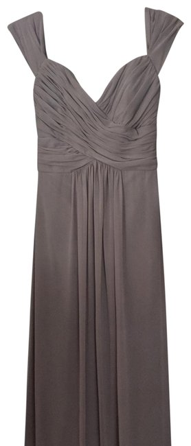 Item - Taupe Style 2844 Long Formal Dress Size 2 (XS)