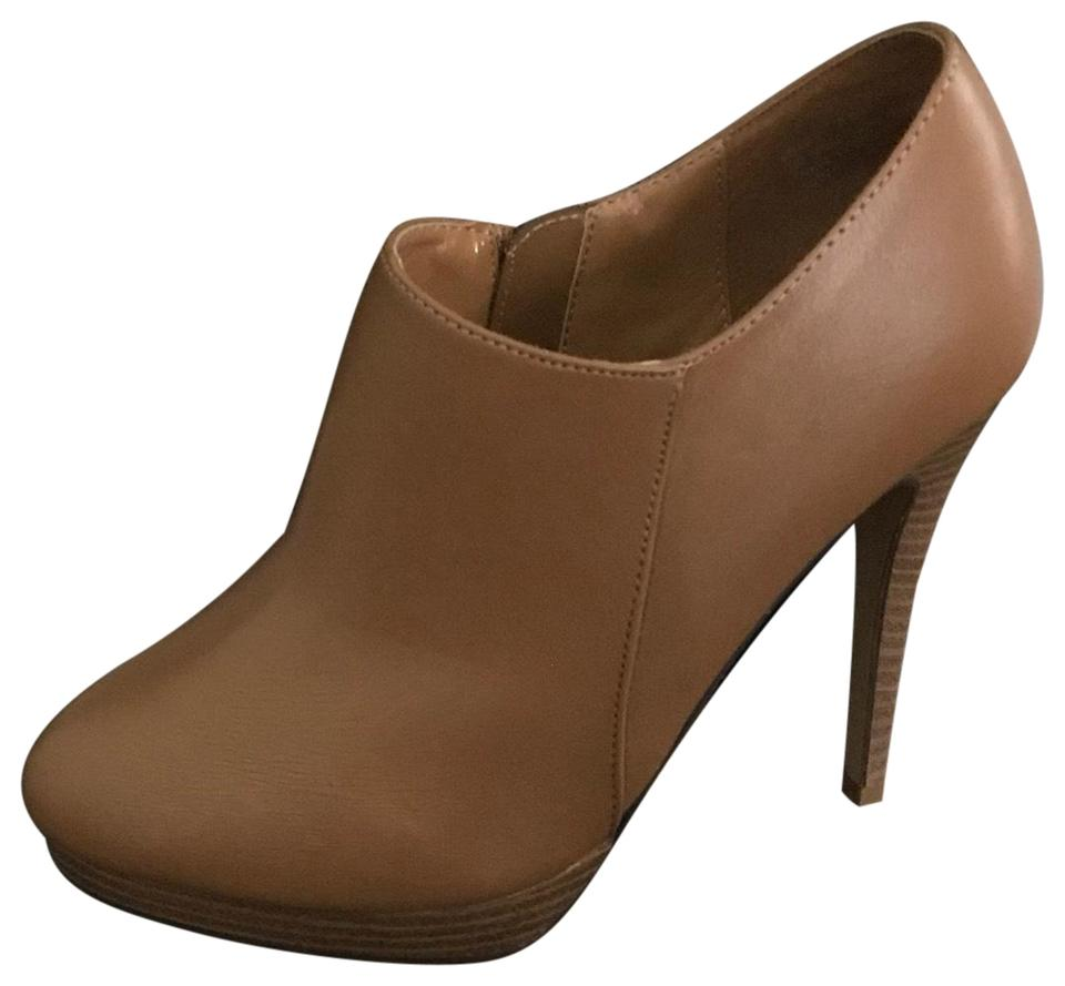 cami nyc Brown Tan With Brown nyc Stacked Heel Boots/Booties 1f218b