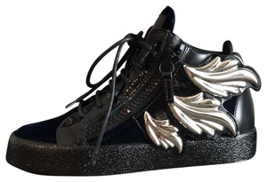 Giuseppe Zanotti black blue silver Athletic