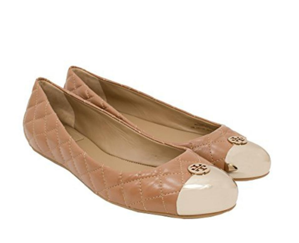 65817b49254d Tory Burch Clay Beige Gold Kaitlin Quilted Leather Ballet Flats. Size  US 8  Regular (M ...