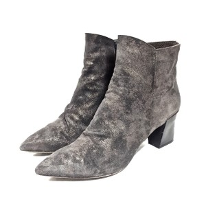 Coclico Suede Ankle Distressed Metallic Gray Boots