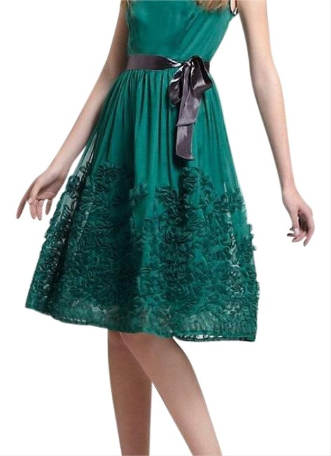 Item - Green Perfect Holiday Mid-length Cocktail Dress Size 4 (S)
