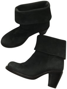 Fiorentini + Baker Italian Leather Ankle Suede Black Boots
