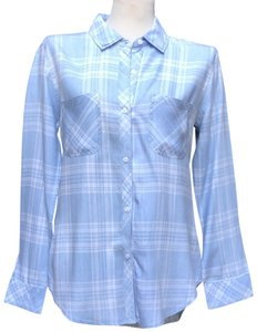 Rails Lyocell Light Button Front Shirt Button Down Shirt Blue