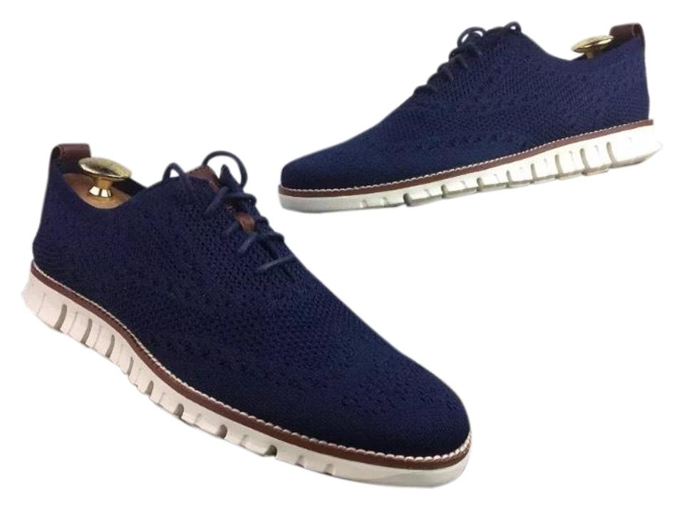 Cole Haan Men's Zerogrand Navy Oxford with Stitchlite - Navy Zerogrand Blue 1/2 M Sneakers d1c025