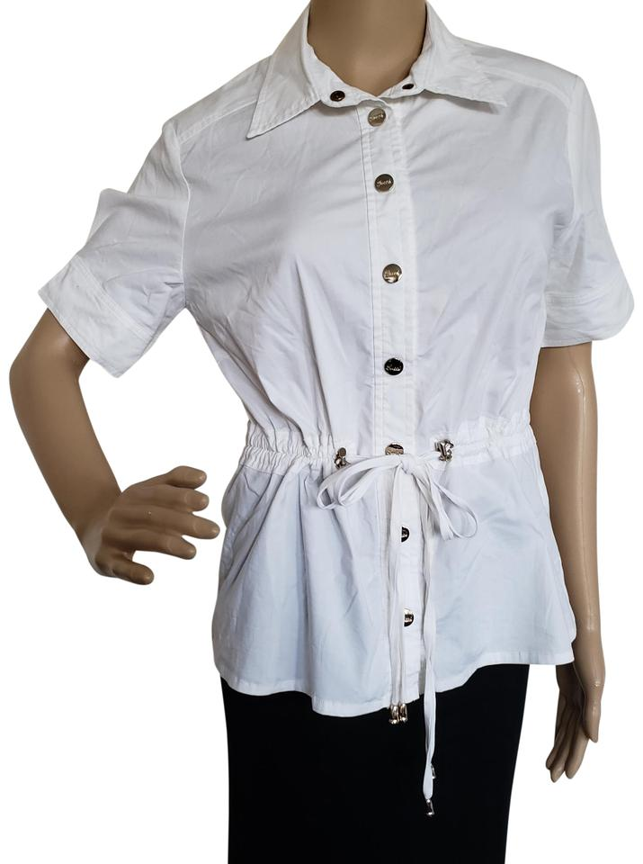 fdbaf282 Gucci Gold Hardware Belted Gg Guccissima Monogram Button Down Shirt White  Image 0 ...