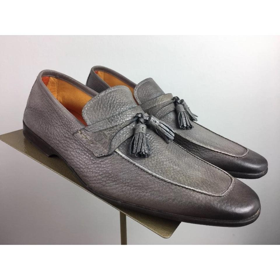 c6ce7f3259a Magnanni Rare Pebbled Soft Leather Faleo Leather Tassel Loafer Eu41 Us8 Formal  Shoes Size US 8 Regular (M