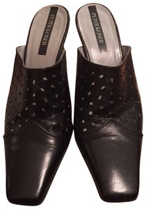 Peter Kaiser Leather Black Mules