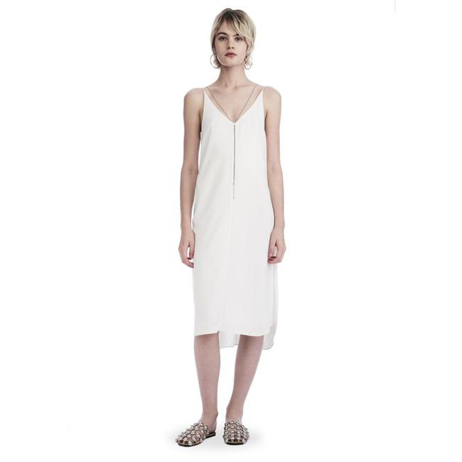 Item - Ivory Sleeveless Chain Detail Mid-length Night Out Dress Size 10 (M)