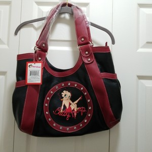 Betty Boop Tote in Black and red