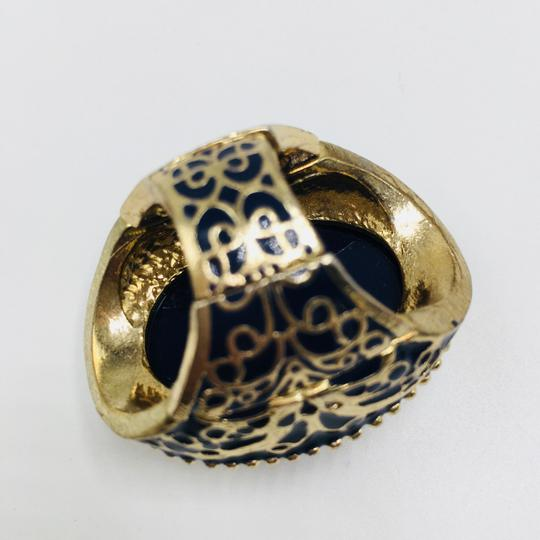 Eve St. Claire 14k gold plated filigree blue ring 9 + size Image 9