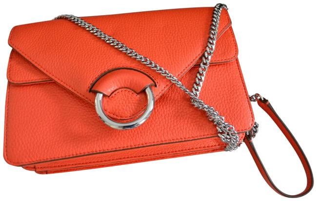 Item - Structured Italian Orange Leather Weekend/Travel Bag