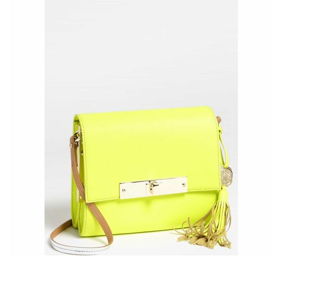 Item - 'judy' Safety Yellow Leather Cross Body Bag