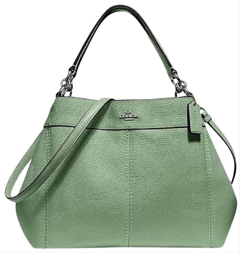 Coach Lexy F28992 Pebbled Leather-small Lexy-clover-silver Hrdw Clover Leather  Shoulder Bag f62e27e65c02f