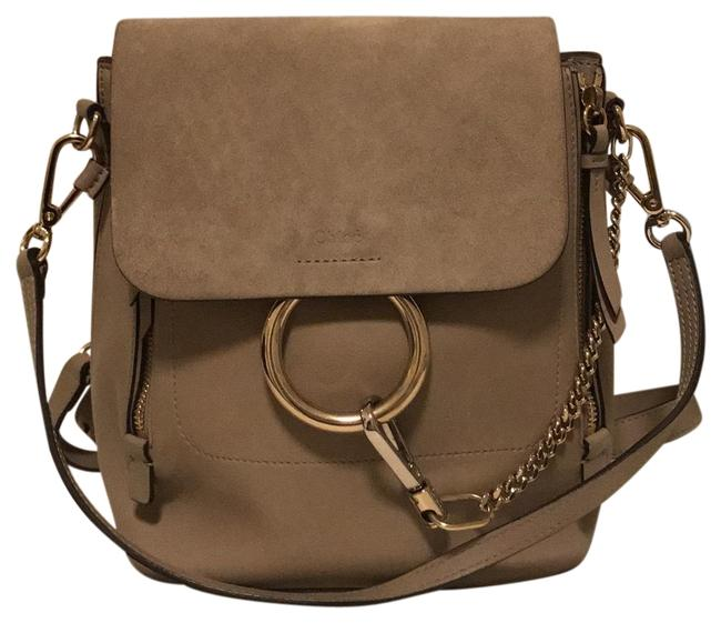 Item - Faye Small Motty Grey Leather Backpack