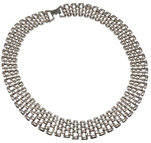 "Napier Silver collar 16"" necklace"
