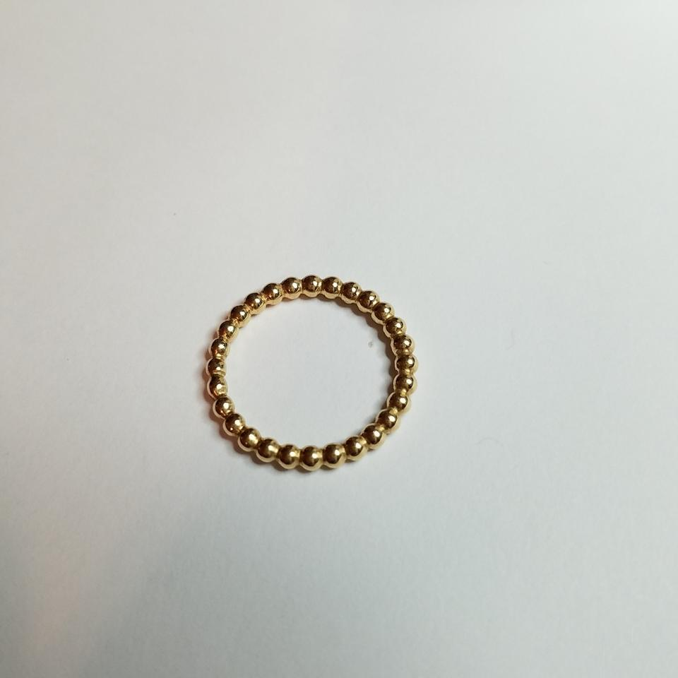86aaf2bec PANDORA Pandora 14k Gold Stackable Bubble Ring Image 5. 123456