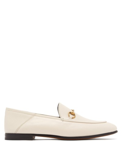 eb79bc8608f Gucci White Horsebit Brixton Leather Loafers 37 Flats Size US 7 ...