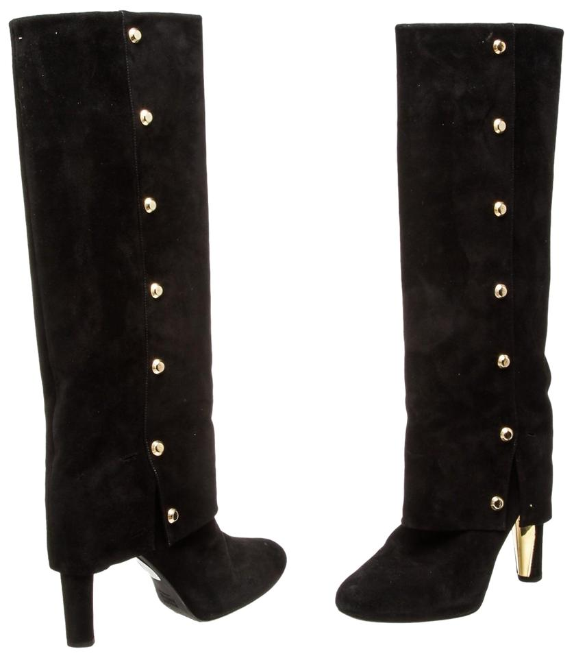 Stuart Weitzman Black Suede 485587 Leather 8.5) 485587 Suede Boots/Booties e3f84b