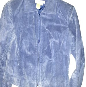Coldwater Creek blue Leather Jacket