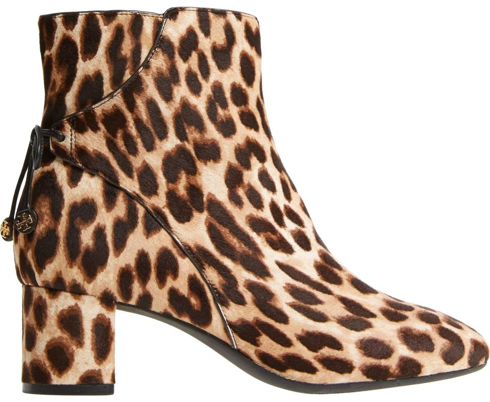 5da5e83ad25 Tory Burch Leopard New Block Heel Ankle Box Boots Booties Size US 7 ...