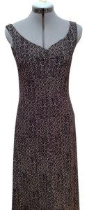 Armani Exchange maxi dress, dark chocolate brown with cream swirl pattern Maxi Dress by A|X Armani Exchange