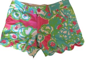 Lilly Pulitzer Mini/Short Shorts Pink WHite Blue