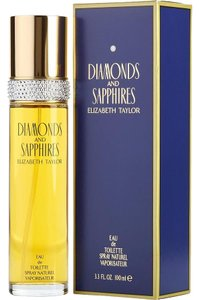 Elizabeth Taylor DIAMONDS AND SAPPHIRES for Women, 3.3 Ounce EAU DE TOILETTE