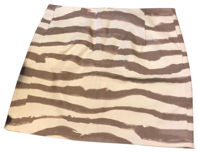 Item - White and Tan/Light Brown Unknown Skirt Size 2 (XS, 26)