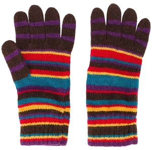 Paul Smith Stripe Wool-Cashmere Blend Gloves
