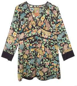 Johnny Was Cotton Floral High Waist Tunic