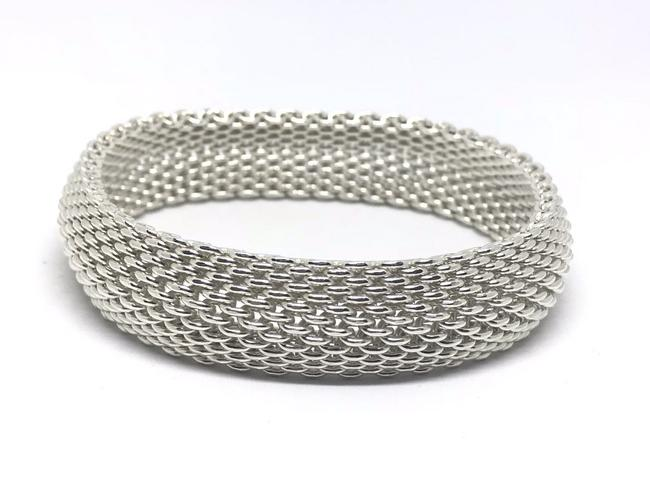 Tiffany & Co. Silver Co T&co Sterling Somerset Mesh Bangle Bracelet Tiffany & Co. Silver Co T&co Sterling Somerset Mesh Bangle Bracelet Image 1