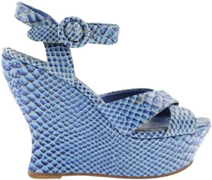 Alice + Olivia Blue Wedges
