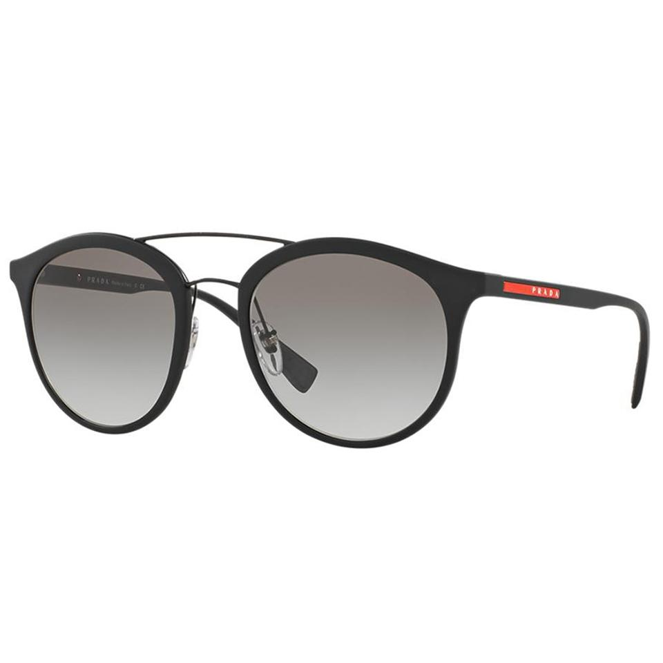 ab501b900a Prada Black Oval Style Unsiex Ps04rs Dg0047 Grey Gradient Lens Sunglasses