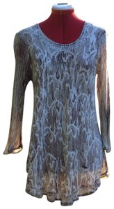 India Boutique Embroidered Sequin Bohemian Tie Dye Tunic