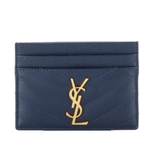 Saint Laurent Monogram Quilted leather Card Case Wallet