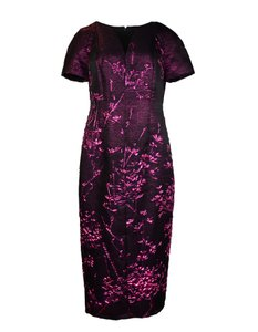 Talbot Runhof Metallic Pink Dress