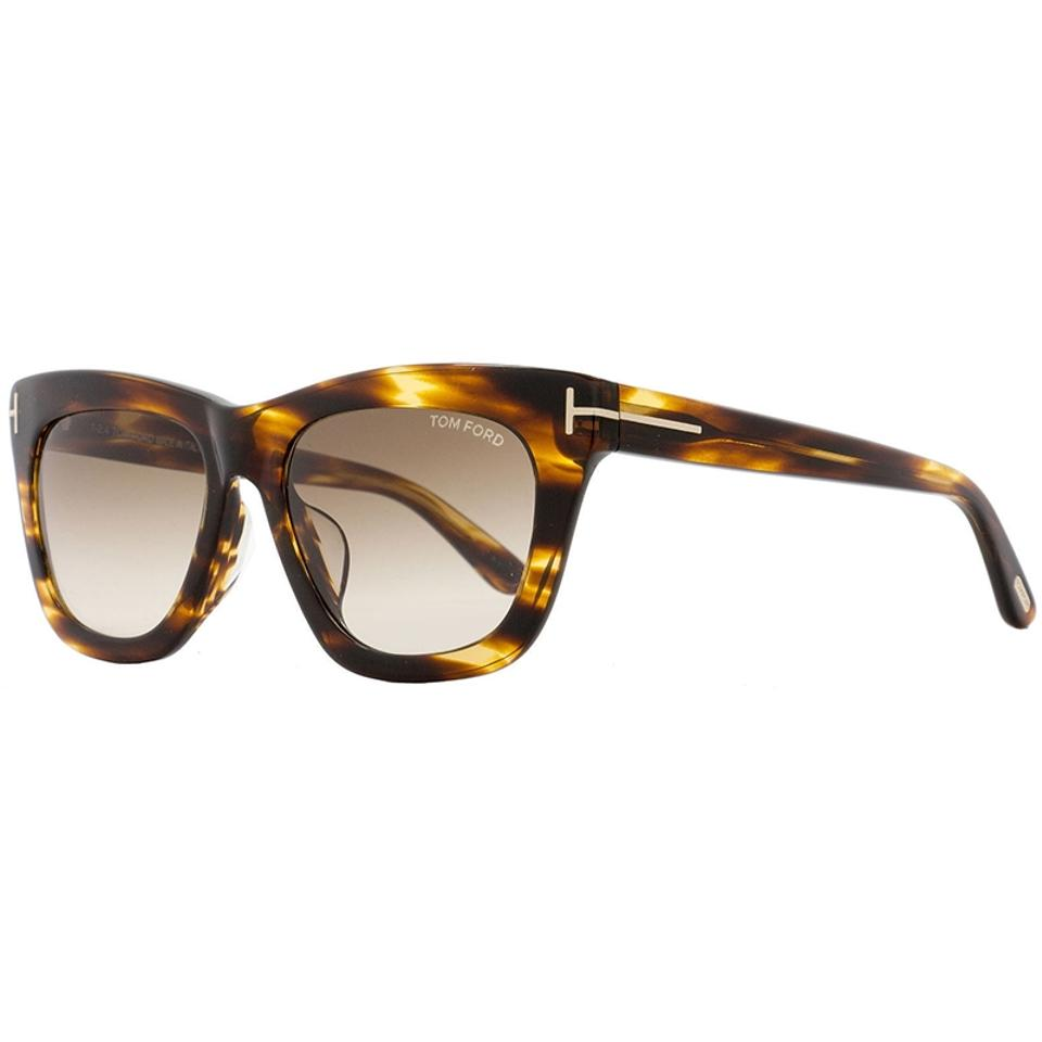 3e3cfee56eb Tom Ford Striped Brown   Havana Rectangular Style Women s Tf0361 50f Grey Gradient  Lens Sunglasses