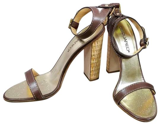 Preload https://img-static.tradesy.com/item/24069507/dsquared2-brown-and-gold-new-d2-genuine-leather-open-toe-leather-block-heel-ankle-strap-sandals-size-0-1-540-540.jpg